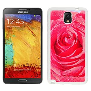 New Beautiful Custom Designed Cover Case For Samsung Galaxy Note 3 N900A N900V N900P N900T With Rose Macro Drops Dew Flower (2) Phone Case