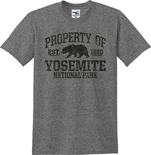 Property of Yosemite National Park Established 1890 T-Shirt (S-5X) (XX-Large, Graphite Heather)