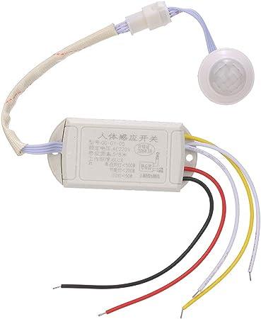 Extaum Interruptor de Sensor de Movimiento Externo AC 220V Cuerpo de Movimiento Humano Interruptor de Infrarrojos PIR Interruptor de luz Controlador de lámpara de Pasillo/Escalera: Amazon.es: Hogar