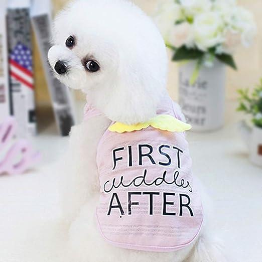 FORMEG Ropa De Perro Mascotas Chaleco para Perros Camisa Ropa para Perros Ropa para Mascotas Chihuahua Pug Caniche Pomerania Yorkshire Ropa para Perro: Amazon.es: Productos para mascotas