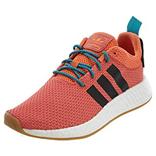 adidas Men's NMD_R2 Summer Originals Orange/Black/White Running Shoe 10 Men US