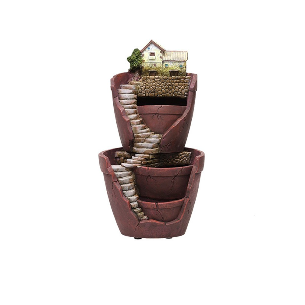 Frjjthchy Sky Garden Planter Succulent Flower Container Double Layer Vertical Broken Bucket Bonsai Holder by Frjjthchy