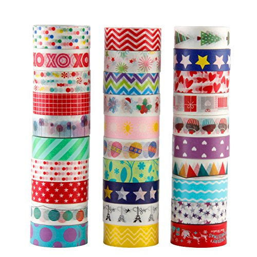 Easy To Decorate Halloween Cupcakes (Monilon Washi Masking Tape, 30 Rolls 16.4 Feet Length 0.6