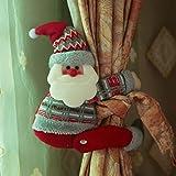 Christmas Decoration Curtain Tiebacks Santa Home Decors (A)