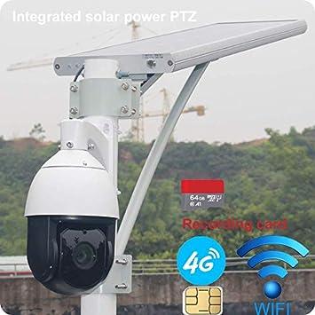 Integrated solar power wifi wireless 3G 4G security ptz