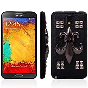 LZX Metal Rivets Pattern Soft Case for Samsung Galaxy Note 3