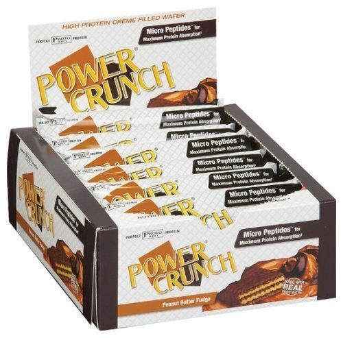 Power Crunch Protein Energy Bar, Peanut Butter Fudge, 12 Bars, 1.4 oz (40 g) Each by Power Crunch