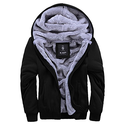 ASALI Men's Pullover Winter Jackets Hooed Fleece Hoodies Sweatshirt Wool Warm Thick Coats – DiZiSports Store