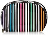 LeSportsac Clear Medium Dome Cosmetic Case, Lestripe Clear, One Size