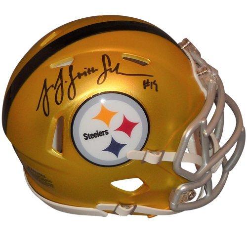 JuJu Smith-Schuster Autographed Pittsburgh Steelers (Blaze Alternate) Mini Helmet - TSE ()