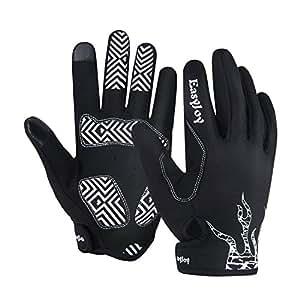 Amazon.com: EasyJoy Cycling Gloves (Full Finger)–Ultra