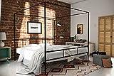 King Size Four Poster Bed Novogratz Marion Canopy Bed Frame, Black, King