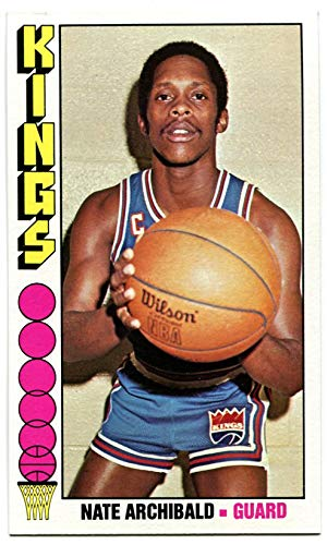 - Topps 1976/77 Nate Archibald Card #20 Kansas City Kings Texas El Paso