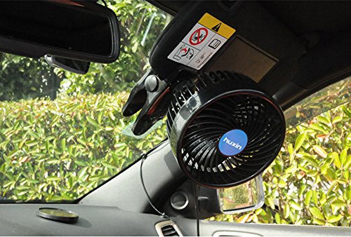 Jhua 12V 6 inch Car Clip Fan Automobile Vehicle Cooling Car Fan Powerful Quiet Speedless Ventilation Electric Car Fans With Clip Cigarette Lighter Plug for Summer by Jhua (Image #8)