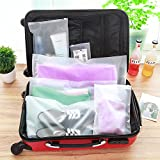 20pcs Transparent Travel Space Saver Pouch Make Up Stuff Household Portable Bag Cloth Shoes Storage Packing Organizer Waterproof Storage Bag Luggage Clothes Plastic Bag (28x40cm/11x15.7inch)