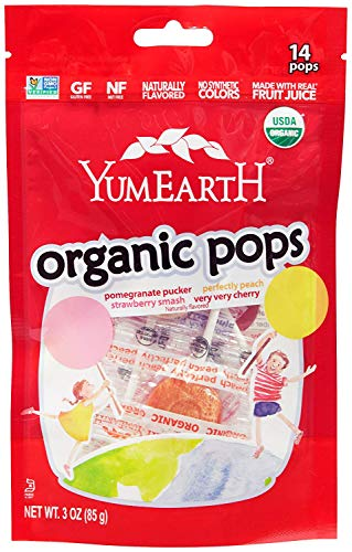 YumEarth Organic Lollipops, Assorted Flavors, 40 lollipops