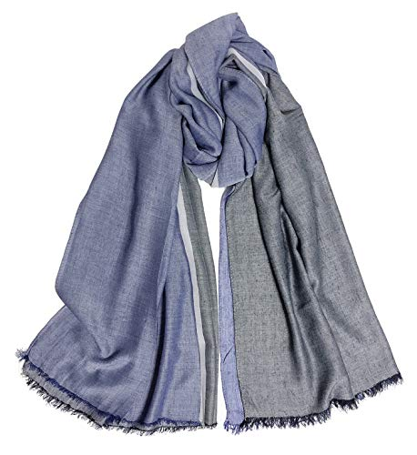 GERINLY Lightweight Scarves for Men Double Color Wrap Long Scarf Shawls