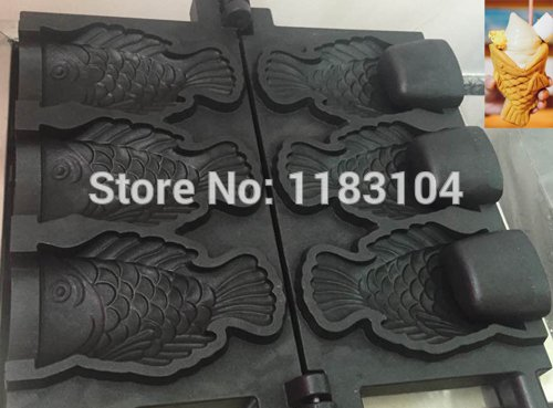 Free Shipping to Indonesia/Malaysia/Singapore/Thailand/Philippines/Vietnam Deep Mouth Icecream Taiyaki Waffle Maker Iron Machine by ANGELGARDEN