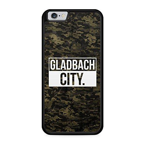 Gladbach City Camouflage - Hülle für iPhone 6 & 6s SILIKON Handyhülle Case Cover Schutzhülle Hardcase Schale | Coole Bedruckte Design Geile Deutschland Militär Military Städte Hülle