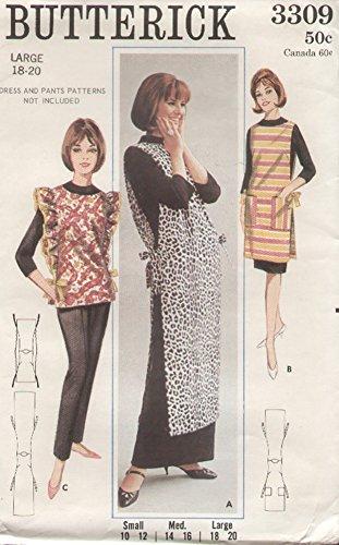 Butterick 3309 Vintage 1960s Pullover Apron Pattern
