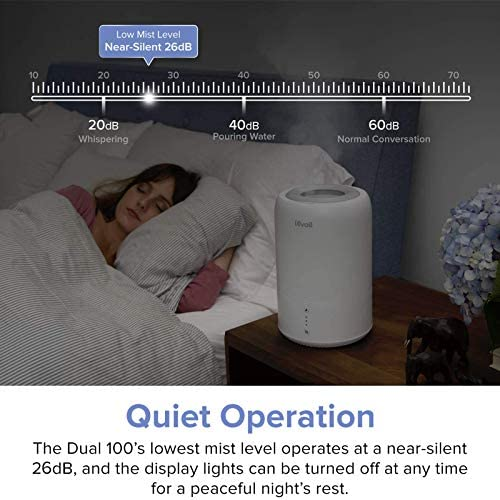 5142OBNDyoL. AC - LEVOIT Humidifiers For Bedroom, Cool Mist Humidifier For Babies, Top Fill Ultrasonic Air Humidifier, Essential Oil Diffuser With Smart Sleep Mode, Whisper Quiet Operation, Auto Shut Off (1.8L/0.48Gal)