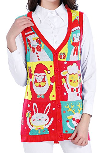 v28 Ugly Christmas Sweater, Women Girl Vintage Knit for sale  Delivered anywhere in USA