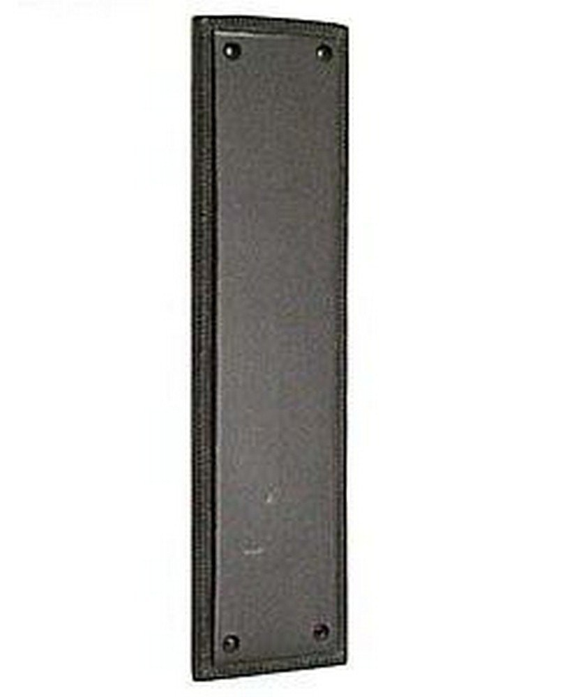 BRASS Accents A06-P0240-613 Academy Collection 12.0625'' Push Plate, Oil Rubbed Bronze Finish by BRASS Accents