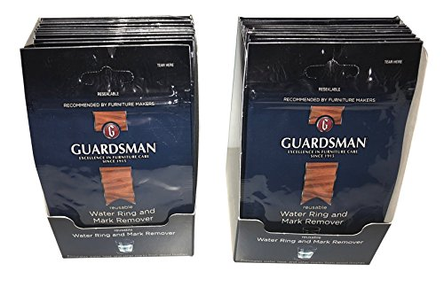 Guardsman Wood & Furniture cleaner wipes 2pk (Qty 24) Ink stain remover for cleaning car interior upholstery furniture and more. Clean rings from water heat permanent marker off your couch (Cleaning Permanent Marker)