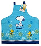 Snoopy and Woodstock Floral Design Blue Colored Kitchen Apron