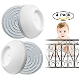 Baby Gate Wall Protector 4 Pack for Baby Gates,Protect...