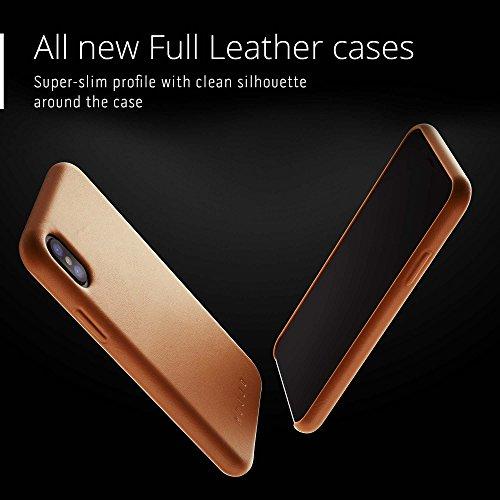 Mujjo CS-095-TN Full Leder Schutzhülle für Apple iPhone X tan