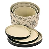 Household Essentials 3-Piece Hat Box Set with Faux