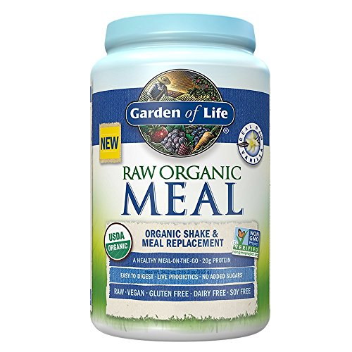 Garden of Life Meal Replacement – Organic Raw Plant Based Protein Powder, Vanilla, Vegan, Gluten-Free, 34.2oz (969g) Powder