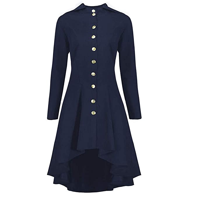 Cinnamou Chaqueta Largos de Mujer Blusa en Cierre Botón Retro Vintage Abrigos Largo para Mujer Vestido Ropa de Abrigo con Espalda Tejida: Amazon.es: Ropa y ...
