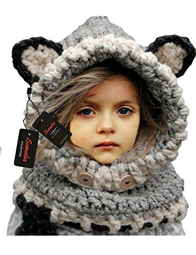 knitted scarf with hood - 1