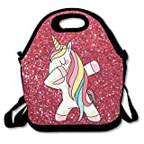 Hip Hop Cool Dabbing Dab Dance Cute Lovely Unicorn Travel Picnic Lunch Bag Lunchboxes Outdoor Lunch Box Bag Lunch Tote Handbag Convenience For Out