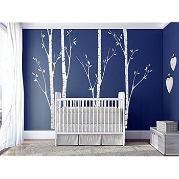 Amazoncom NSunForest Ft White Birch Tree Vinyl Wall Decals - Wall decals murals