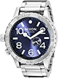 Nixon Men's A0571258 51-30 Tide Analog Display Swiss Quartz Silver-Tone Watch