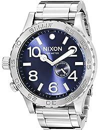 Nixon Men's A0571258 51-30 Tide Analog Display Swiss Quartz Silver-Tone  Watch