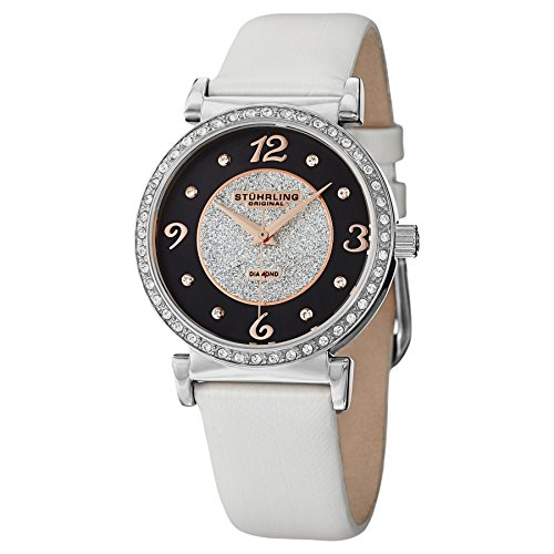 Stuhrling Original Women's 711.01 Audrey Astra Swiss Quartz Diamond White Watch