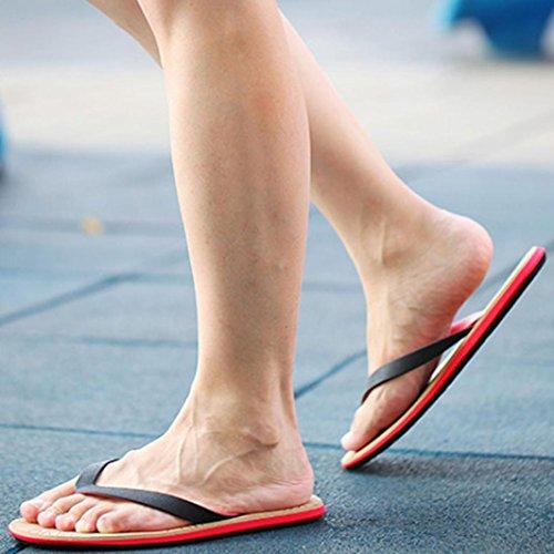 Sandali Infradito Estate Estate Uomo Sandalo Rosso Scarpe Da Spiaggia