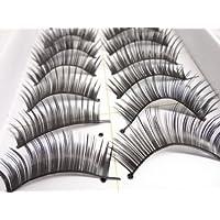 M.G.D Beautylife 1 Paar 3D Lang Kreuz künstliche Wimpern Schwarz Eyelasches Wimpernverlängerung