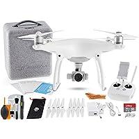 DJI Phantom 4 Quadcopter Drone w/ 16GB Micro SD Card + Super Savings Lens/Drone Cleaning Solution