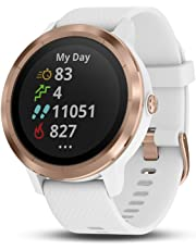 Garmin 010-01769-09 vivoactive 3, White Silicone/ Rose Gold