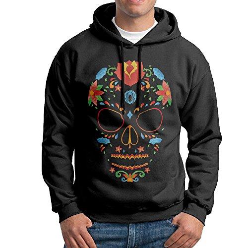 LOYRA Men's Sugar Skull Hoodies Size XL Black