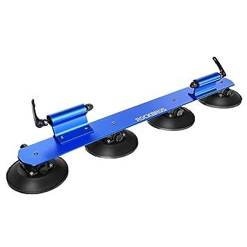RockBros Portabicicletas Baca bicicleta con ventosa de almacenamiento para Auto (Azul para 2 bicicletas)