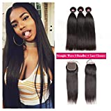 Best Hair Bundles With Free Parts - West Kiss Brazilian Straight Hair 3 Bundles With Review