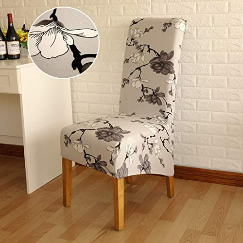 - JONARO 4 pcs Pieces Long Back Chair Cover Printed Wedding Chair Covers Dining Christmas Decorations for Home Gift