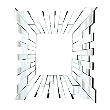 Abbyson Living London Square Wall Mirror, Small