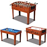 Sportcraft 3-in-1 Multi-Game Table FOOSBALL, TABLE HOCKEY, TABLE SOCCER,AND POOL TABLE ALLIN ONE